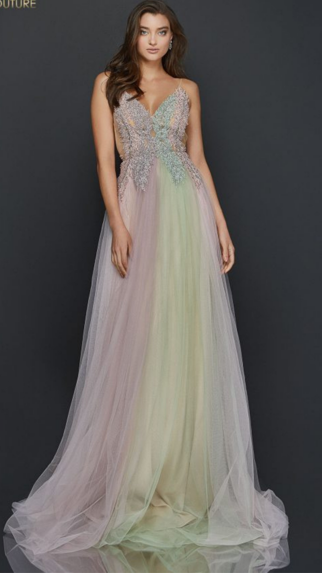 Pearl Beaded Long Prom Gown - ONFEMME By Lindsey's Kloset