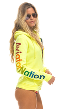 Load image into Gallery viewer, Neon Yellow Zip Hoodie - Lindsey's Kloset