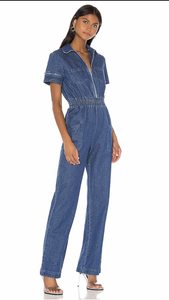 Charlie Fashion Denim Jumpsuit - ONFEMME By Lindsey's Kloset