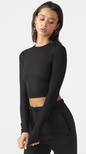 Cropped Crew Long Sleeve - ONFEMME By Lindsey's Kloset