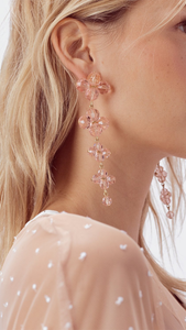 Dew Drops Beaded Earrings - Lindsey's Kloset