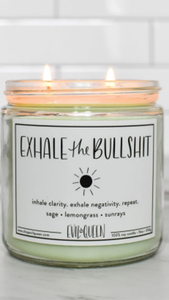 Exhale the Bullshit Candle - Lindsey's Kloset