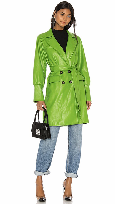 Farrah Vegan Leather Trench Coat - ONFEMME By Lindsey's Kloset