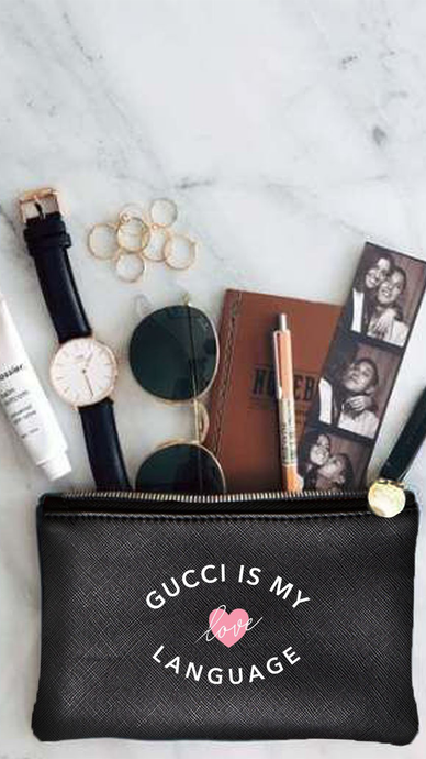 Gucci Is My Love Language Vegan Pouch - Lindsey's Kloset