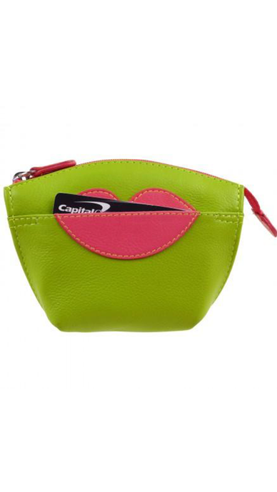Hot Lips Leather Coin Purse - Lindsey's Kloset
