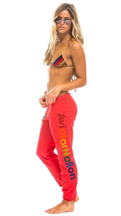 Neon Red Sweatpants - ONFEMME By Lindsey's Kloset