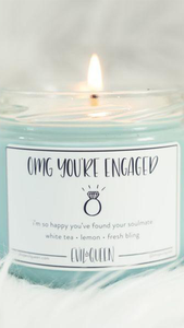 OMG You're Engaged Candle - Lindsey's Kloset