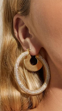Load image into Gallery viewer, Pave Amalfi Hoops - Lindsey's Kloset