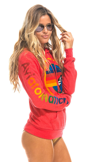 Neon Red Pullover Hoodie - Lindsey's Kloset