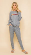 Load image into Gallery viewer, Blue Gray Sweat Set - Lindsey's Kloset