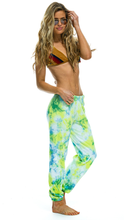 Load image into Gallery viewer, Neon Yellow Hand Dyed Sweatpants - Lindsey's Kloset