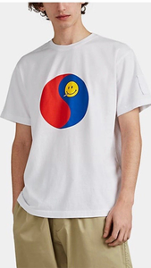 Taegeuk Smiley Face Cotton T-Shirt - Lindsey's Kloset