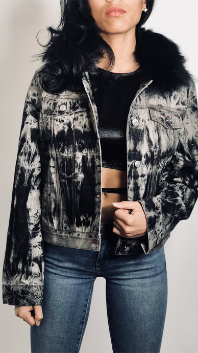 #UNDENIABLE Fox Fur Denim Jacket - Lindsey's Kloset