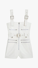 Load image into Gallery viewer, Vegan Leather Moto Short Overalls - ONFEMME By Lindsey's Kloset