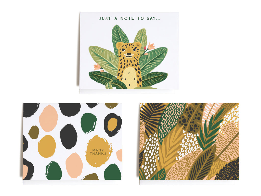 Tropical Jungle Assorted Notecard Set - onderkast-studio