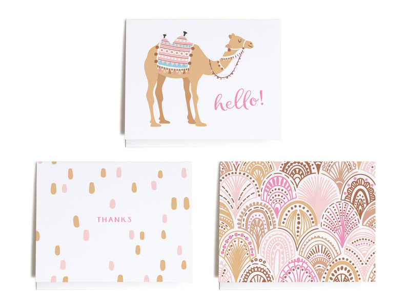 Sweet Boho Assorted Notecard Set - onderkast-studio