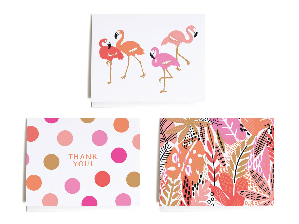 Bright Tropical Assorted Notecard Set - onderkast-studio