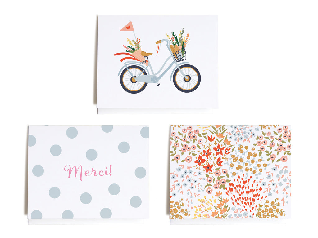Sweet French Assorted Notecard Set - onderkast-studio