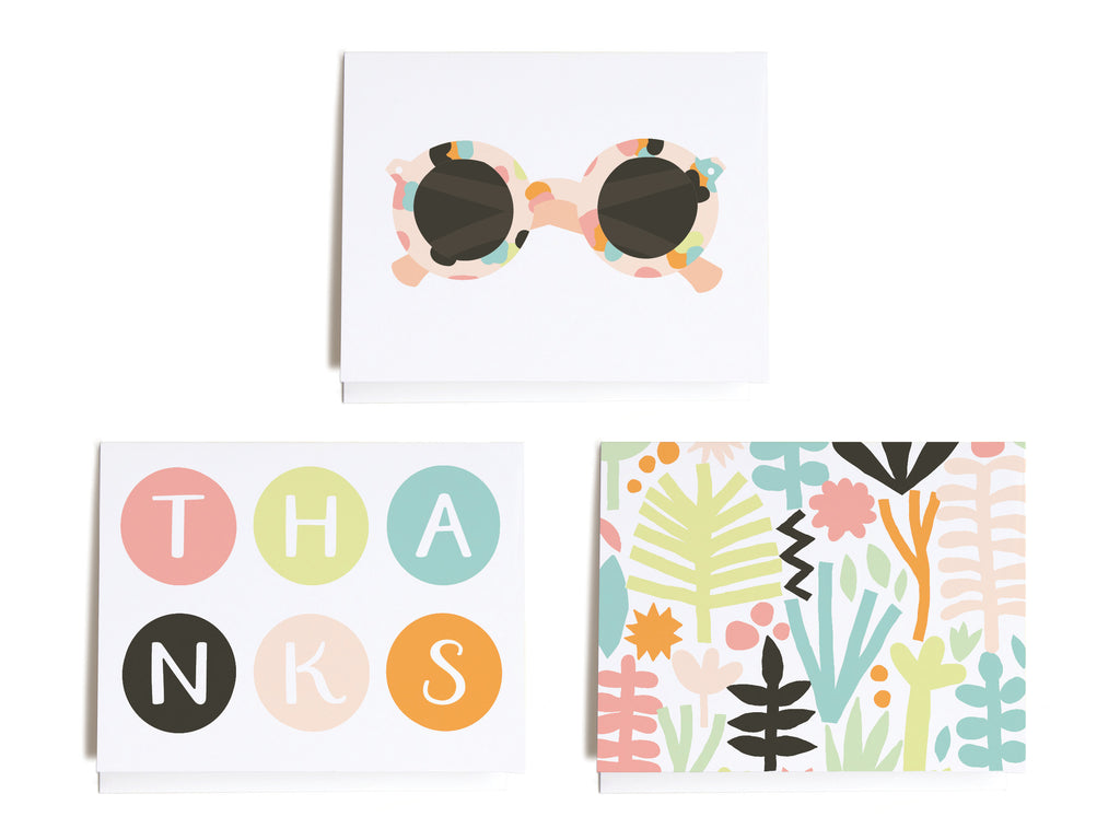 Summer Tropical Assorted Notecard Set - onderkast-studio