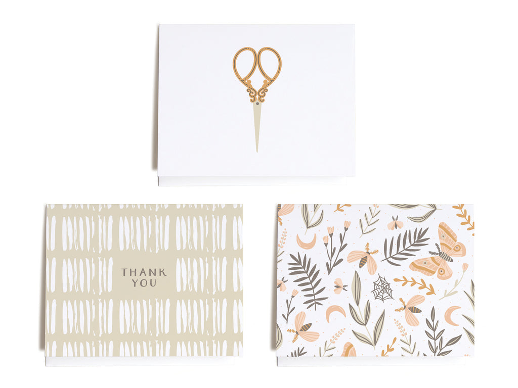 Simple Whimsical Assorted Notecard Set - onderkast-studio