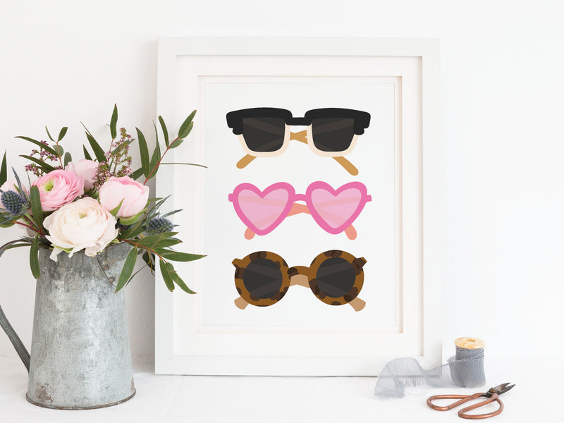Sweet Sunglasses Art Print - onderkast-studio
