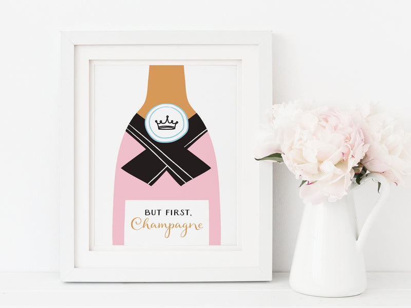 But First, Champagne Art Print - onderkast-studio