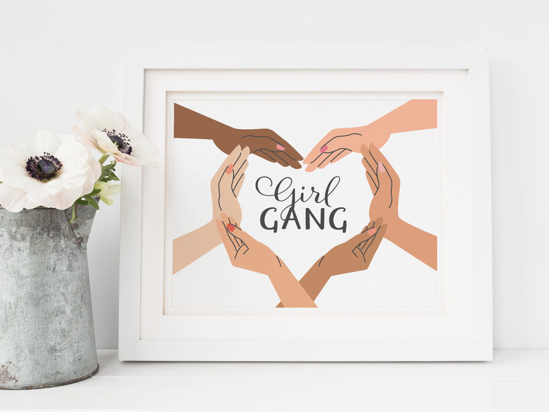 Girl Gang Hands Art Print