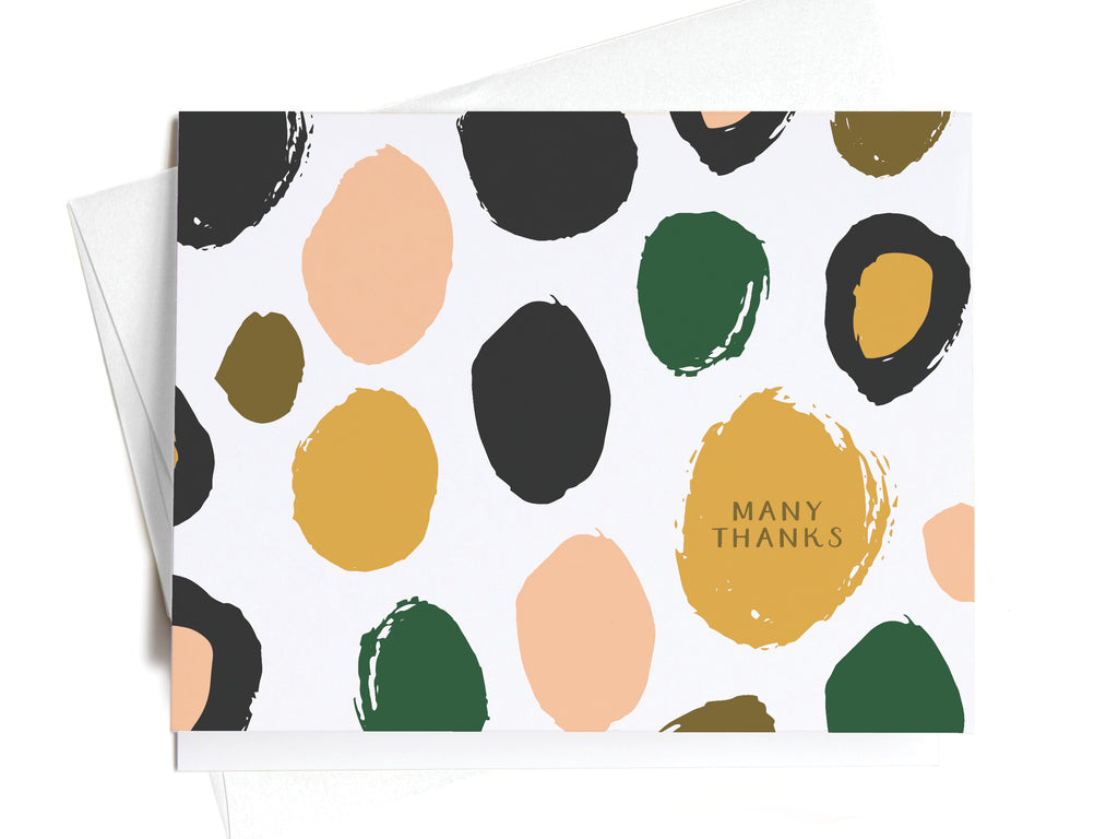Many Thanks Spotted Pink + Green Pattern