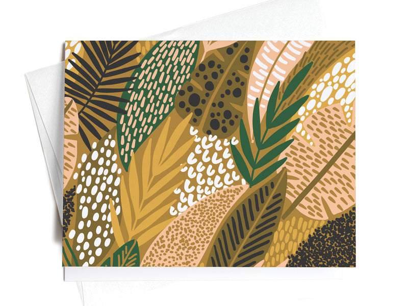Tropical Jungle Palms Pattern Notecards - onderkast-studio