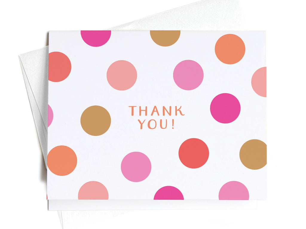 Thank You Pink Polka Dots