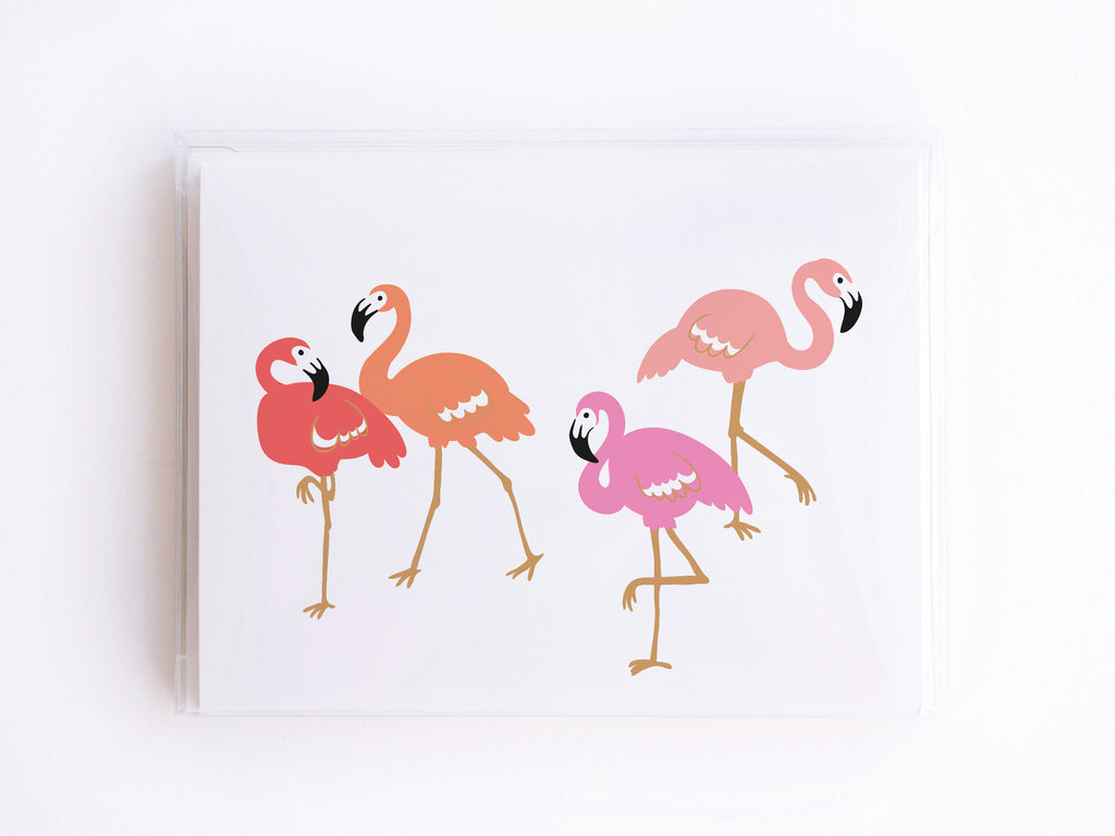 Pink Flamingos Notecards - onderkast-studio