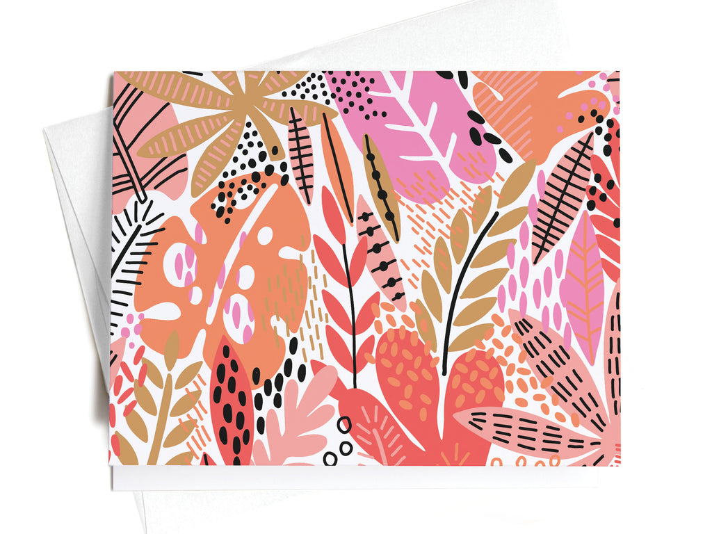 Pink + Orange Tropical Foliage