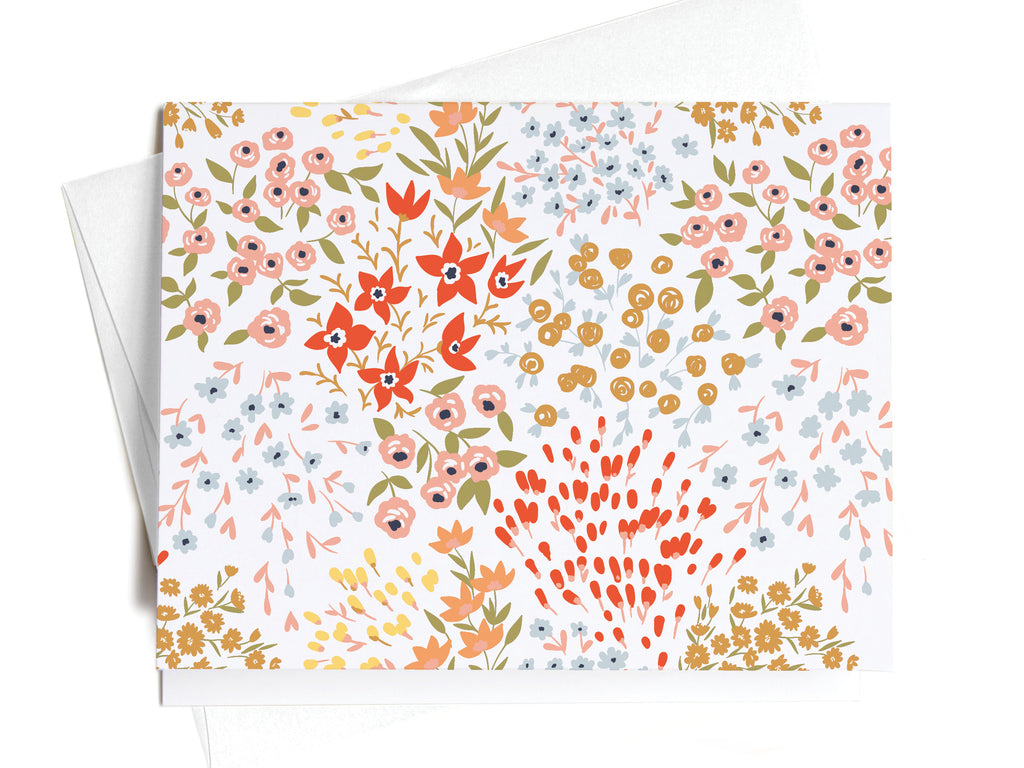 French Floral Pattern Notecards - onderkast-studio