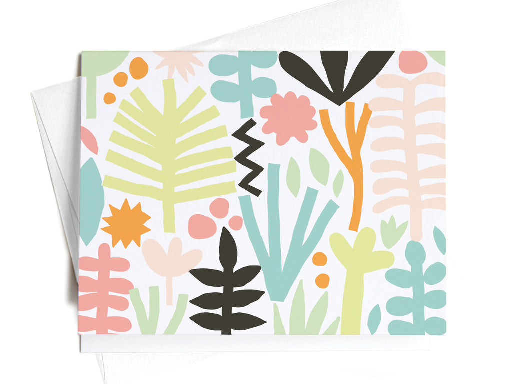 Summer Tropical Pattern Notecards - onderkast-studio