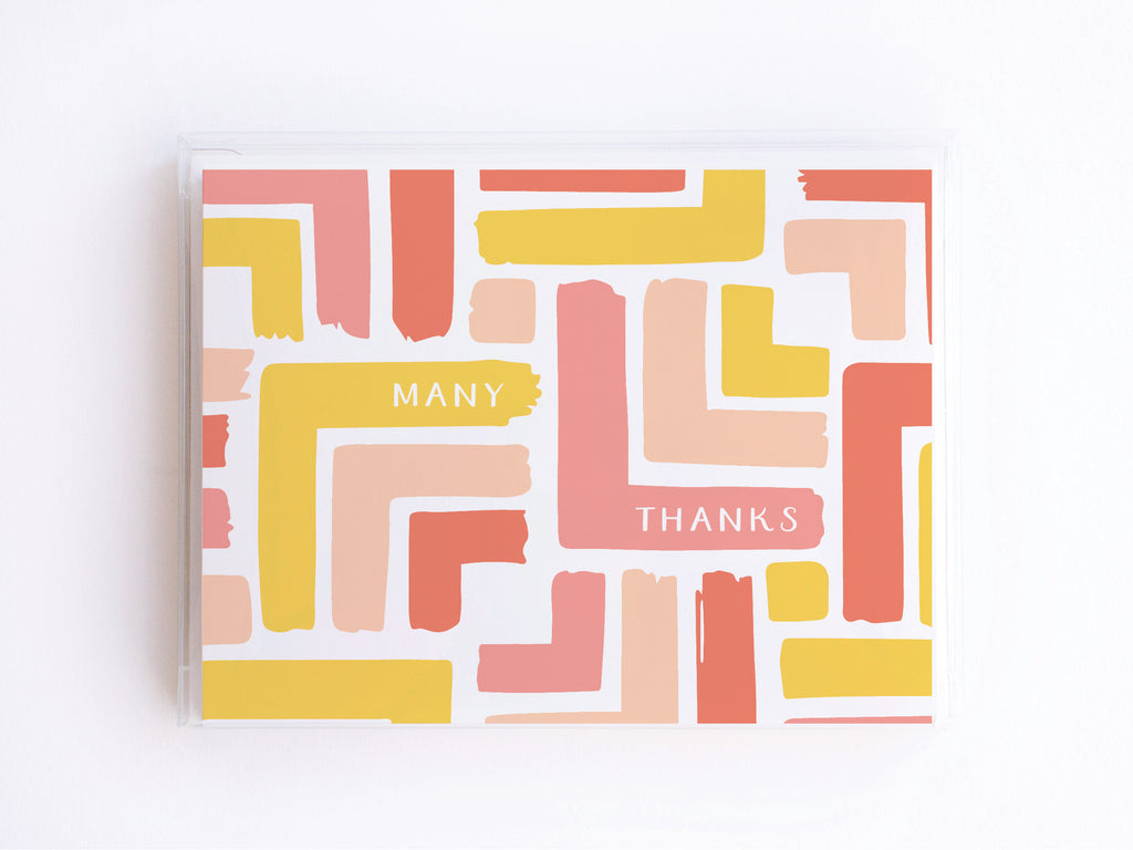 Many Thanks Modern Stripe Pattern