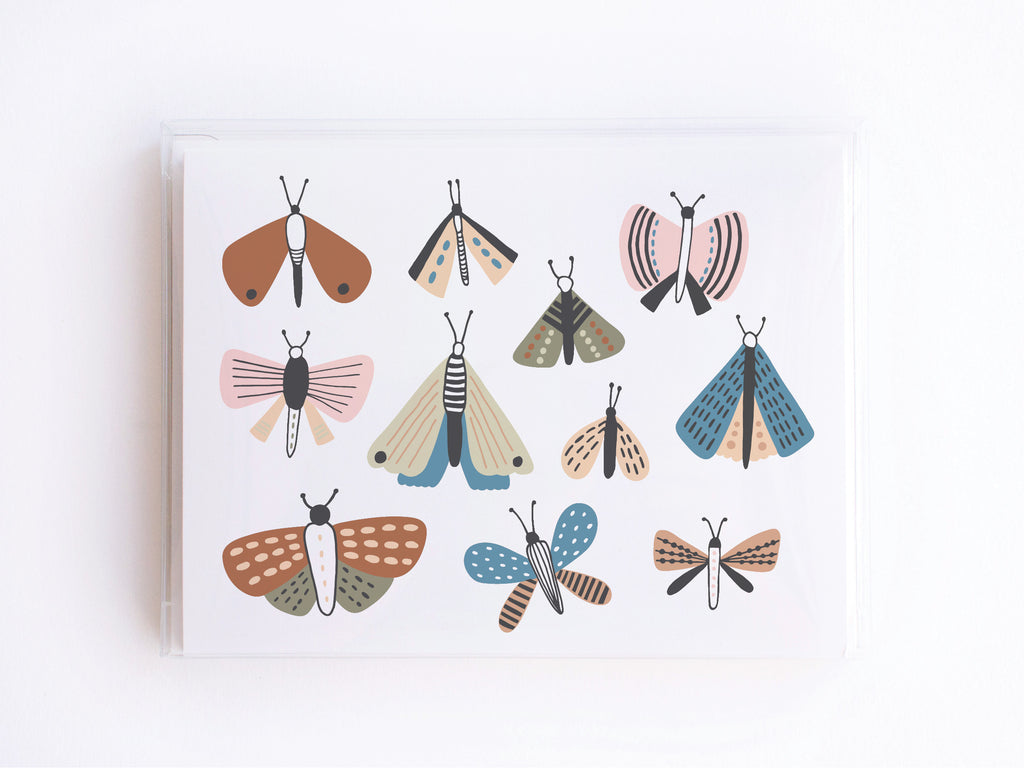 Moths + Butterflies Notecards - onderkast-studio