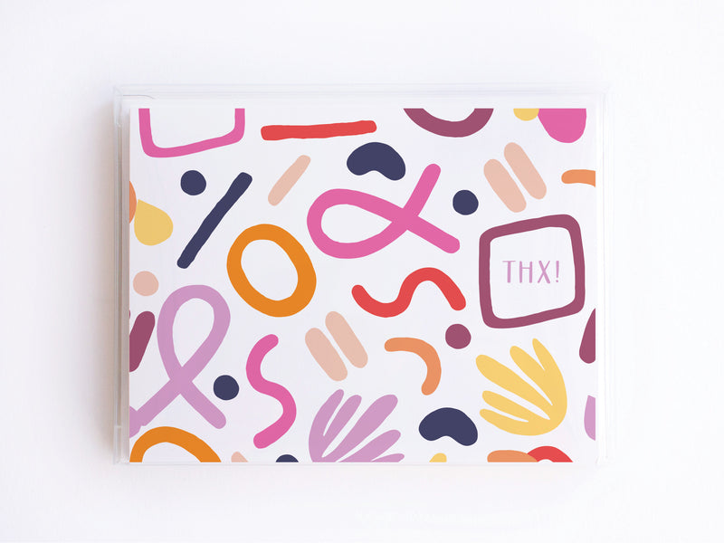 THX! Modern Fun Pattern Notecards - onderkast-studio
