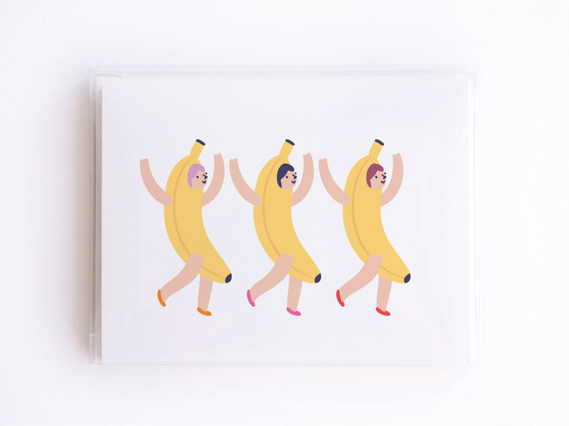 Banana Suit Girls Notecards - onderkast-studio