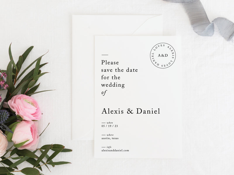 Modern & Minimal Save the Date