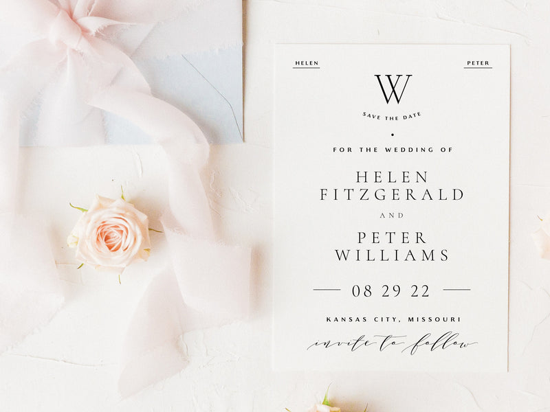 Elegant & Classic Save the Date