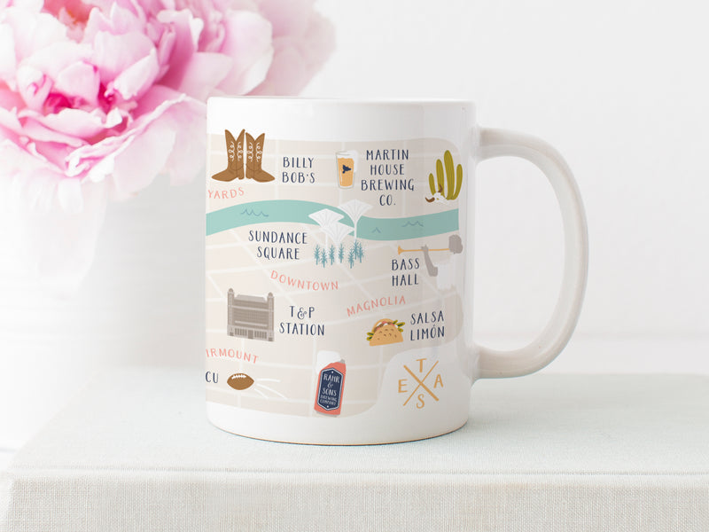 Fort Worth Map Mug - onderkast-studio