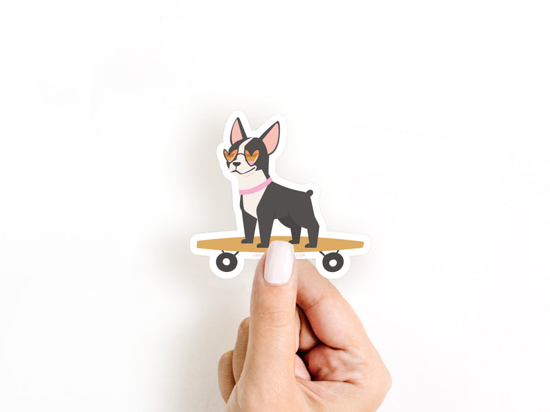 Dog on a Skateboard Sticker