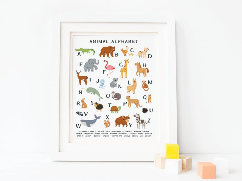 Animal Alphabet Art Print - onderkast-studio