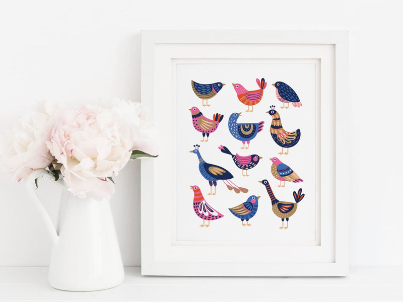 Birds Art Print - onderkast-studio