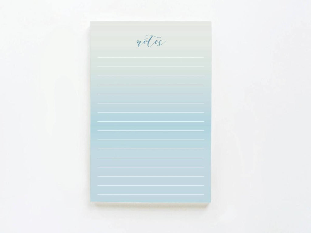 Blue Ombre Notes - Notepads - Onderkast Studio