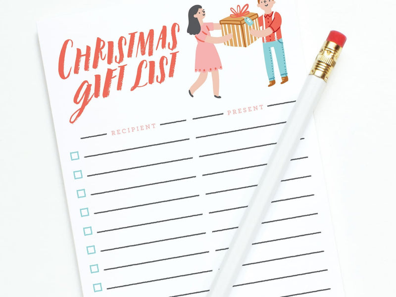 Christmas Gift List - Notepads - Onderkast Studio