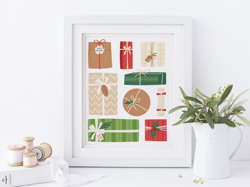 Christmas Gifts - Art Print - Onderkast Studio