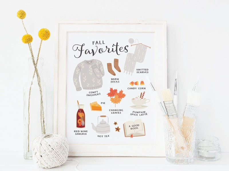 Fall Favorites Art Print - onderkast-studio