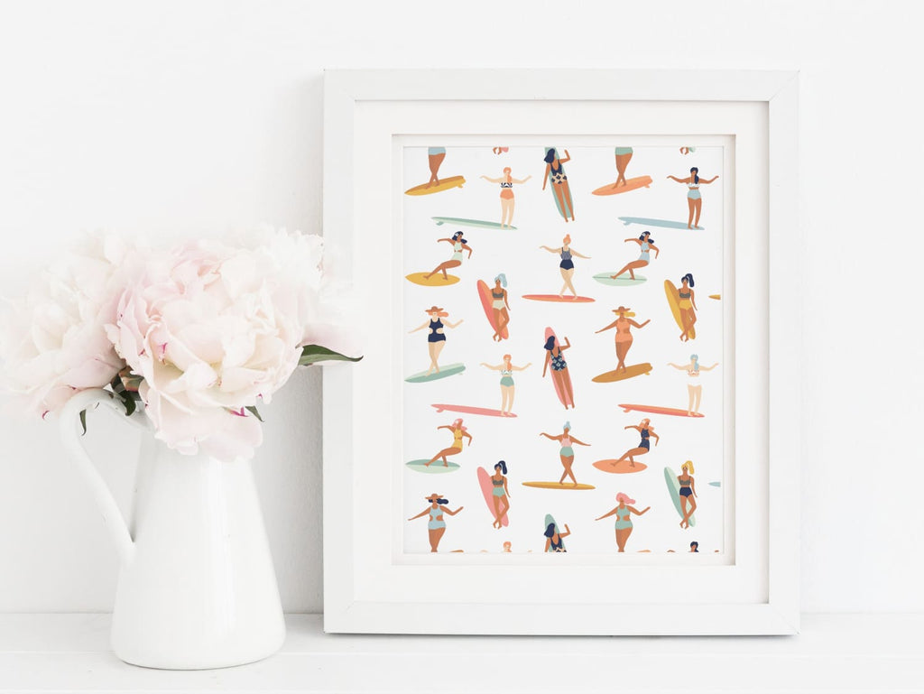 Lady Surfers - Art Print - Onderkast Studio