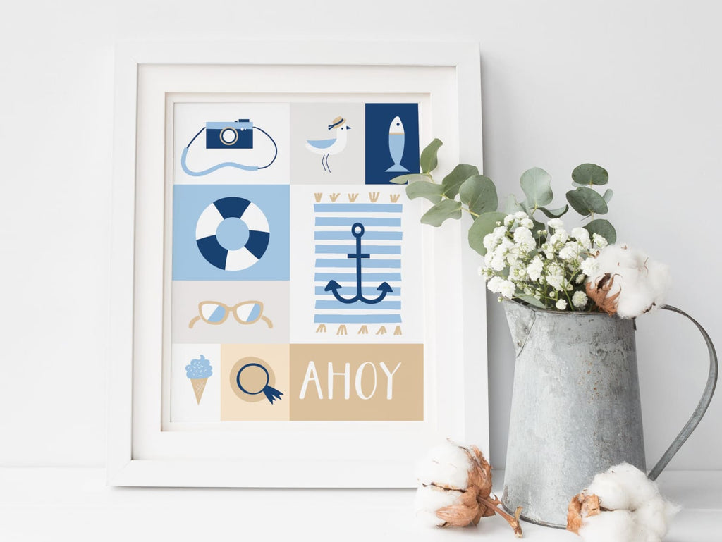 Nautical Ahoy - Art Print - Onderkast Studio